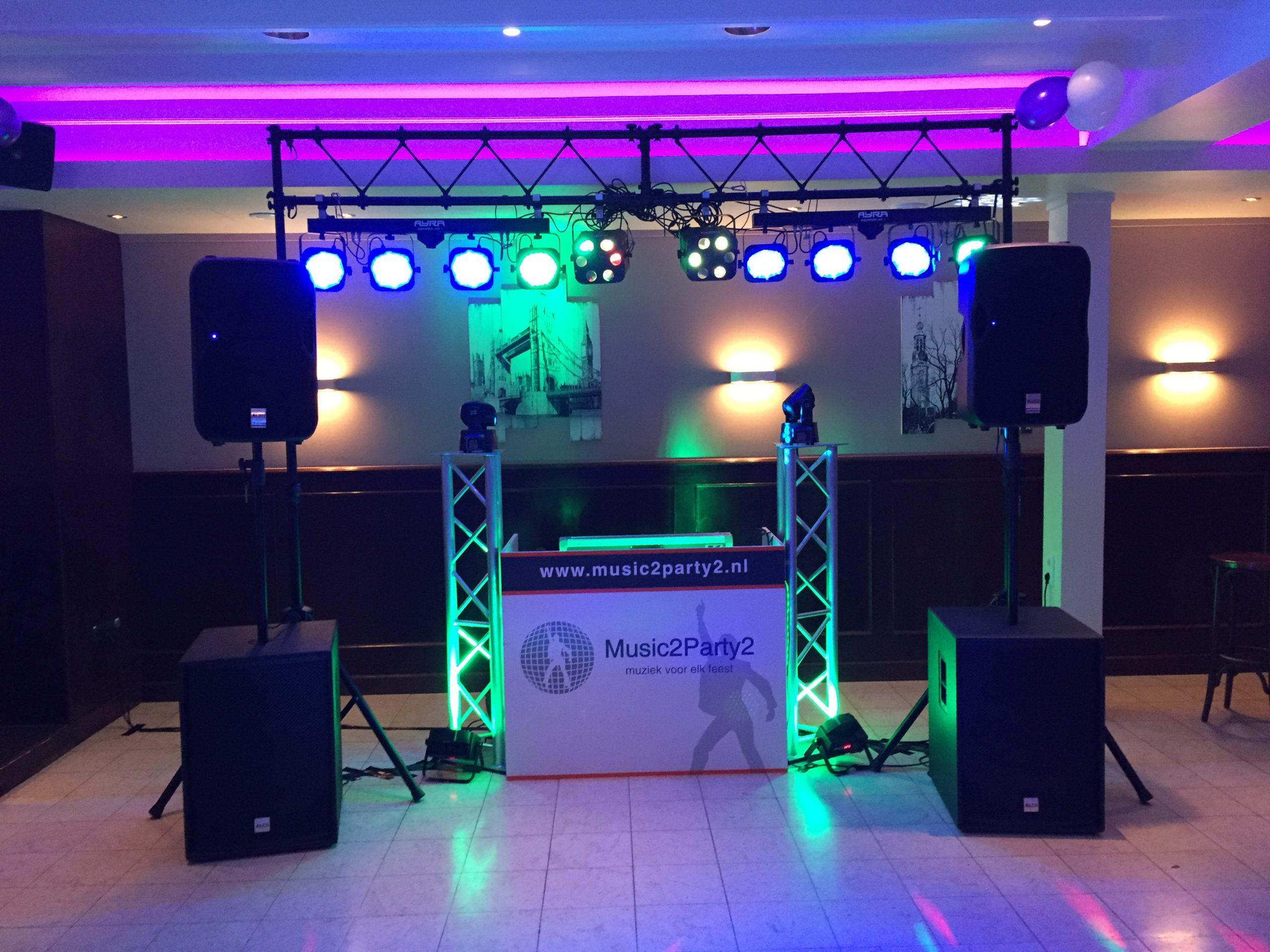 Music2Party2 Opstelling 25 jarig bruiloftfeest in Dorst