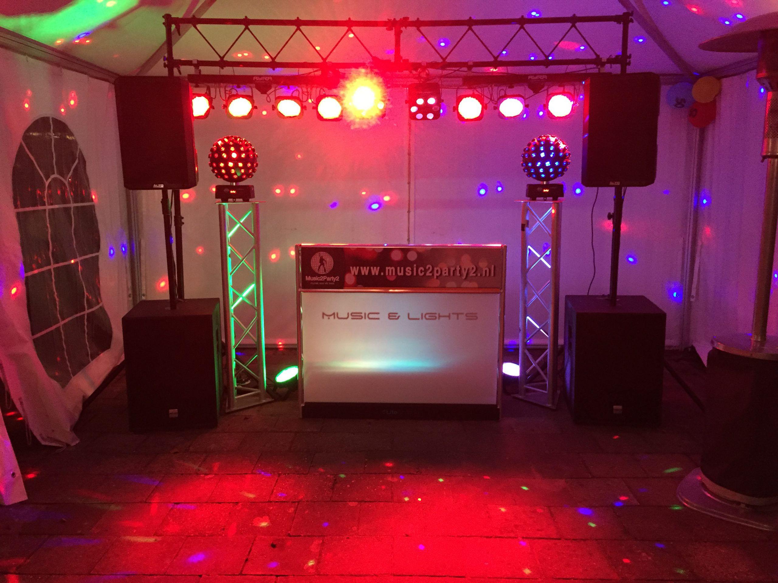 Music2Party2 Opstelling Abraham feest in Oosterhout