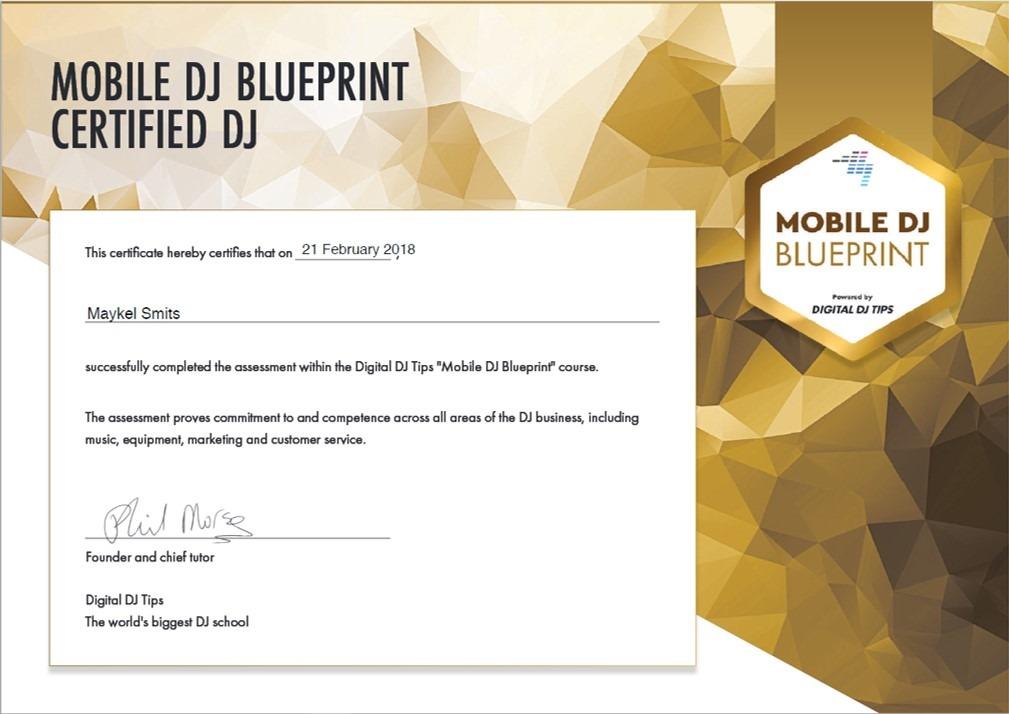 Maykel-Smits-Mobile-DJ-certificaat